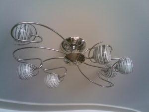 Установка люстры и монтаж светильников