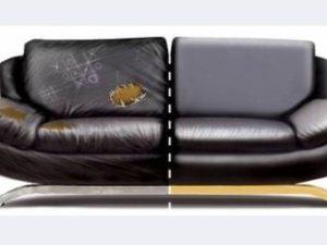 Перетяжка кожаного дивана в Сальске